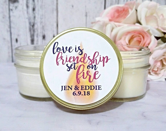 Wedding Candle Favor - Party Candle Favor - Bridal Shower Candle Favor - Bridemaids Candle Gift - Candle For Bridal - Custom Candle Favors