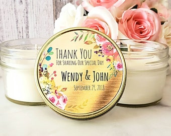 Gold wedding Favors - Wedding Candle Favors - Gold candle Favor - Gold Wedding Candles - Wedding Party Favors - Soy candle favors set of 12