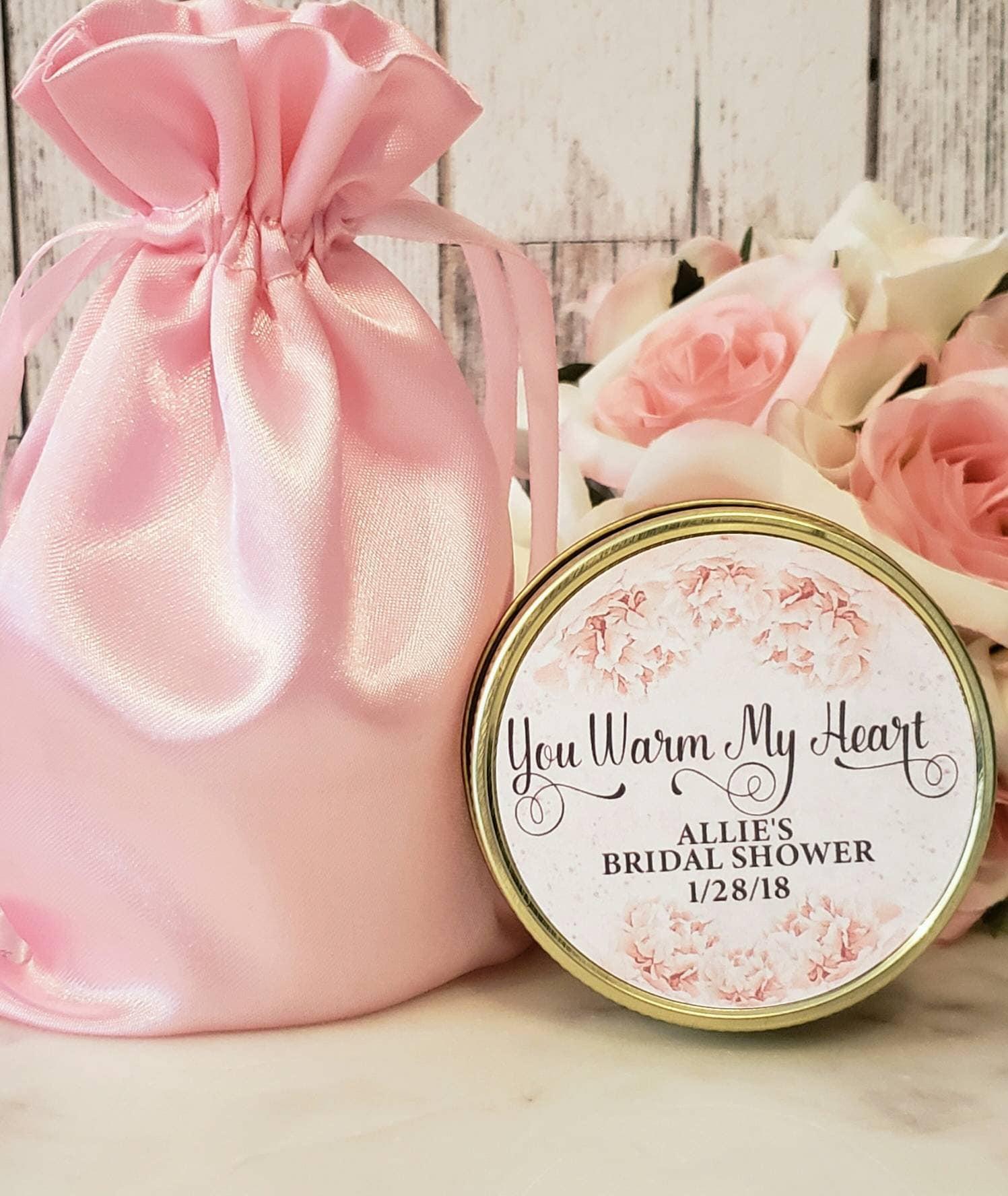 Personalized Bridal Shower Favor - Bridal Shower Candle Favor Blush ...