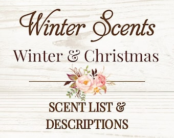 Best Selling Winter Scents - Not For Purchase - Winter Scents & Descriptions - Not For Purchase
