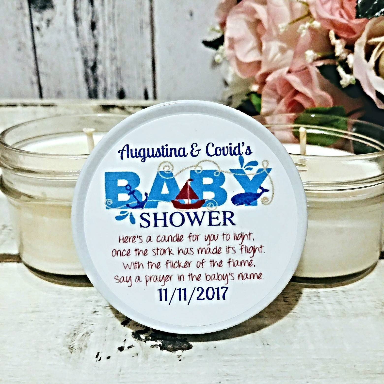 Baby Shower Favors Candles Boy Nautical Baby Shower Favors Boy