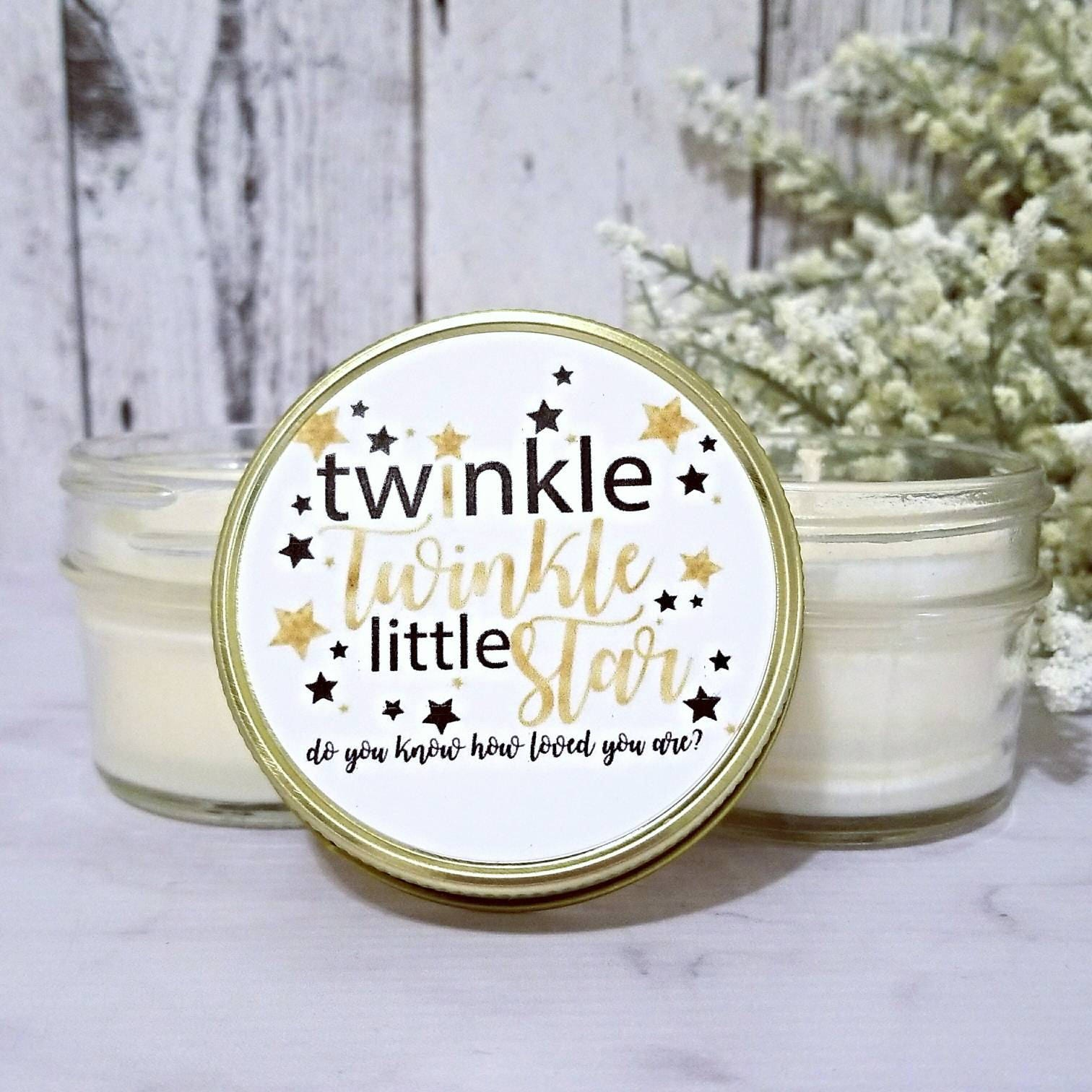 12 Baby Shower Candle Favors Twinkle Twinkle Little Star Baby