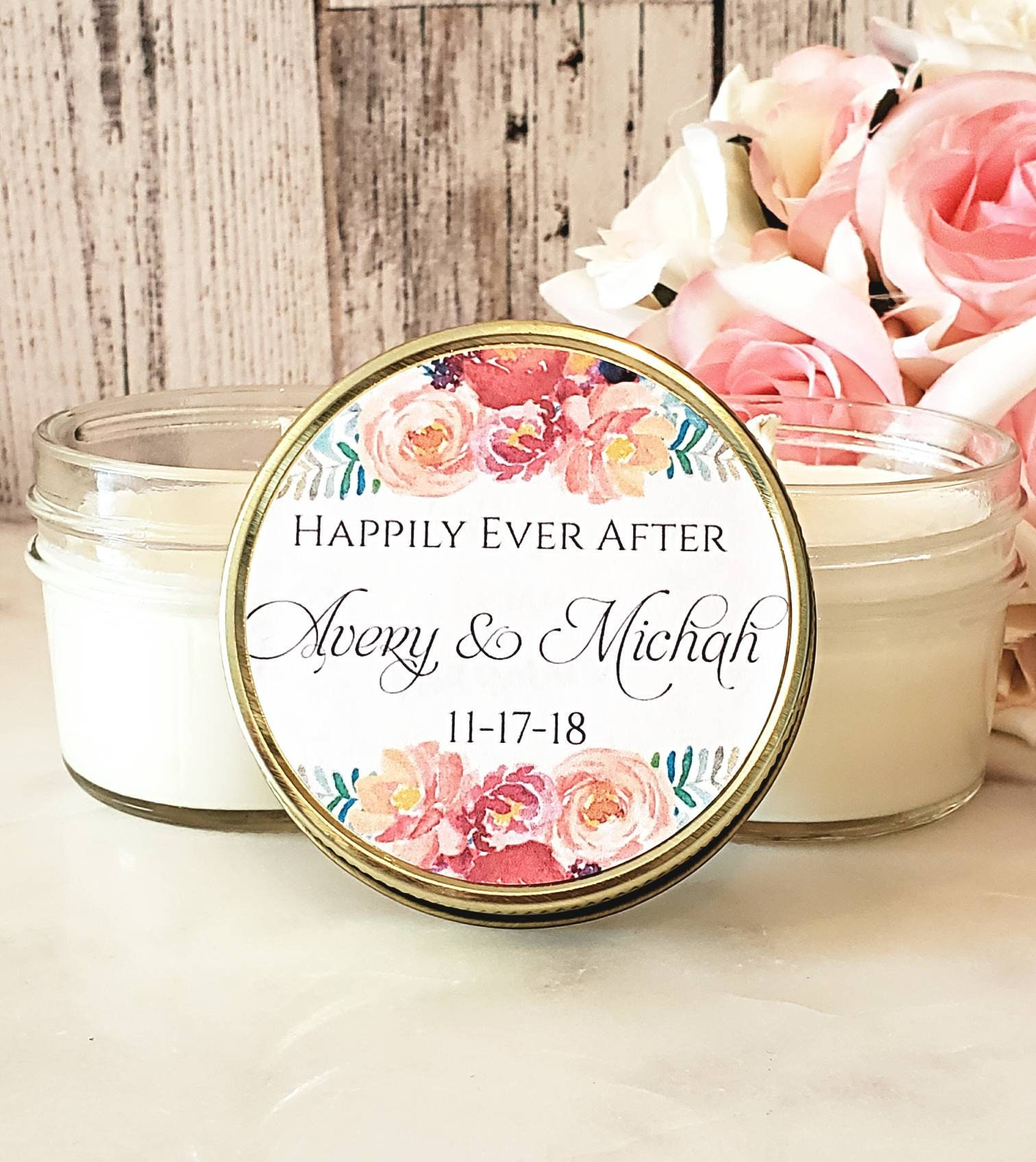 Fall Wedding Favors / Set Of 12 - Fall Floral - Fall Wedding Candle ...