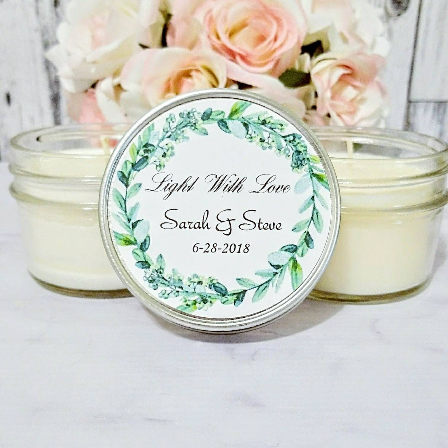 Greenery Wedding Favor - Greenery for wedding - Wedding Candle Favor ...