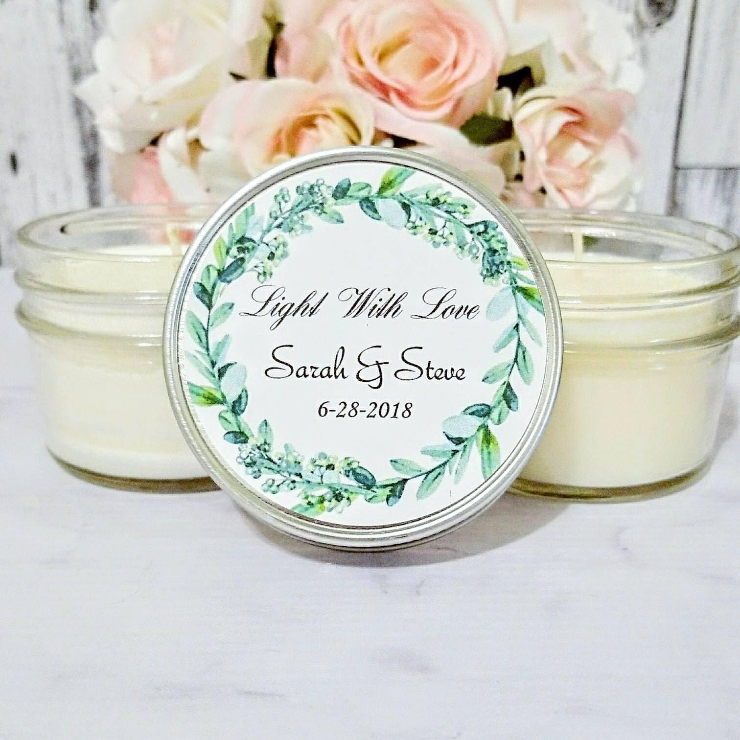 Greenery Wedding Favor - Greenery for wedding - Wedding Candle Favor ...