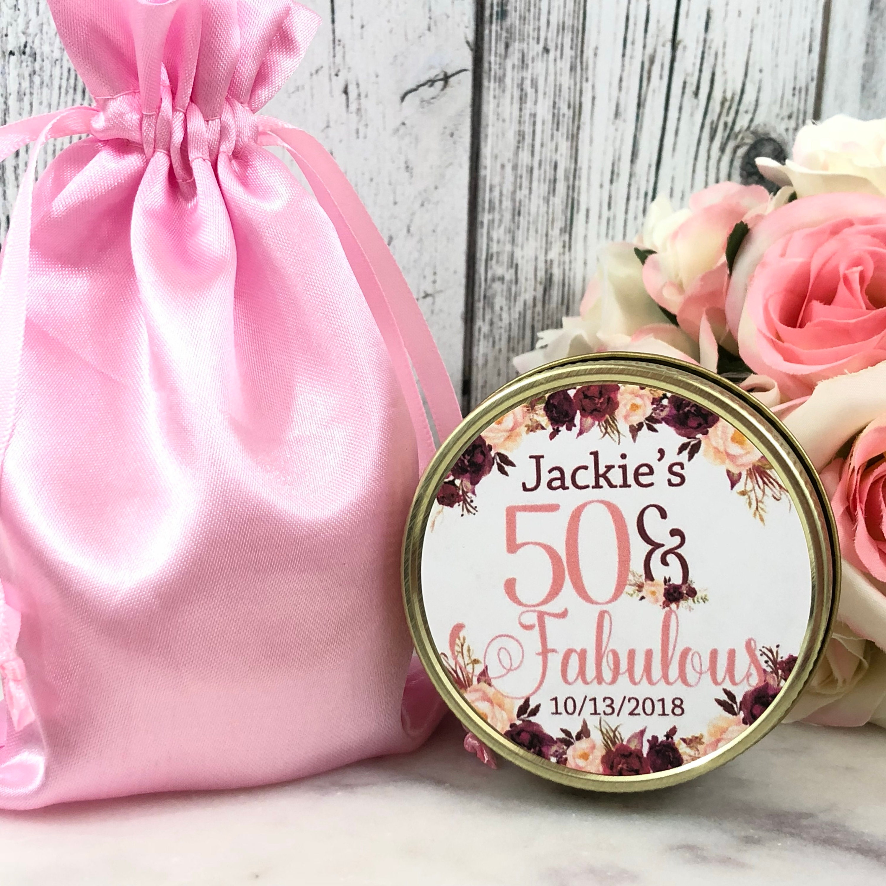 50th Birthday Party Favors - Fifty and Fabulous - 50th Birthday ...
