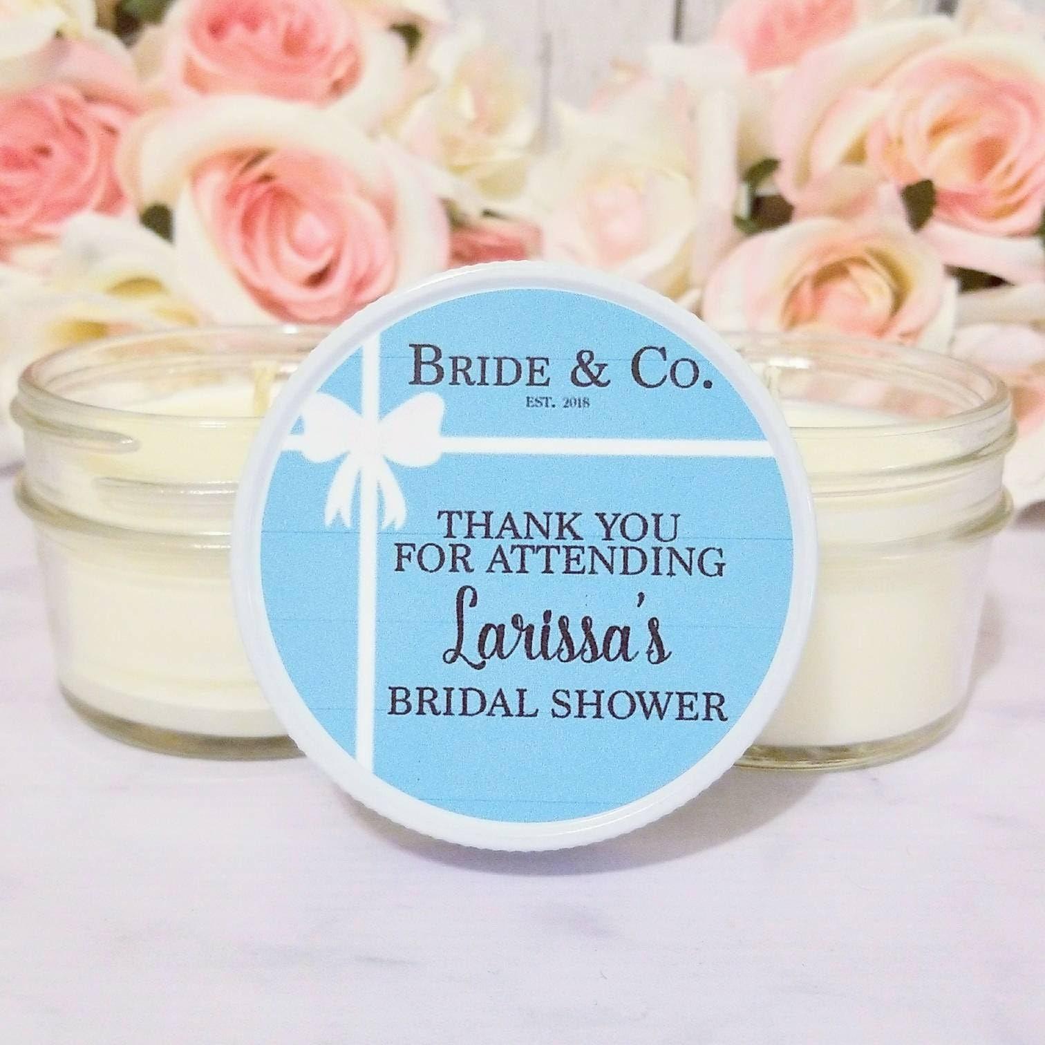 Bridal Shower Candle Favors Bride and Co Bridal Shower | Etsy