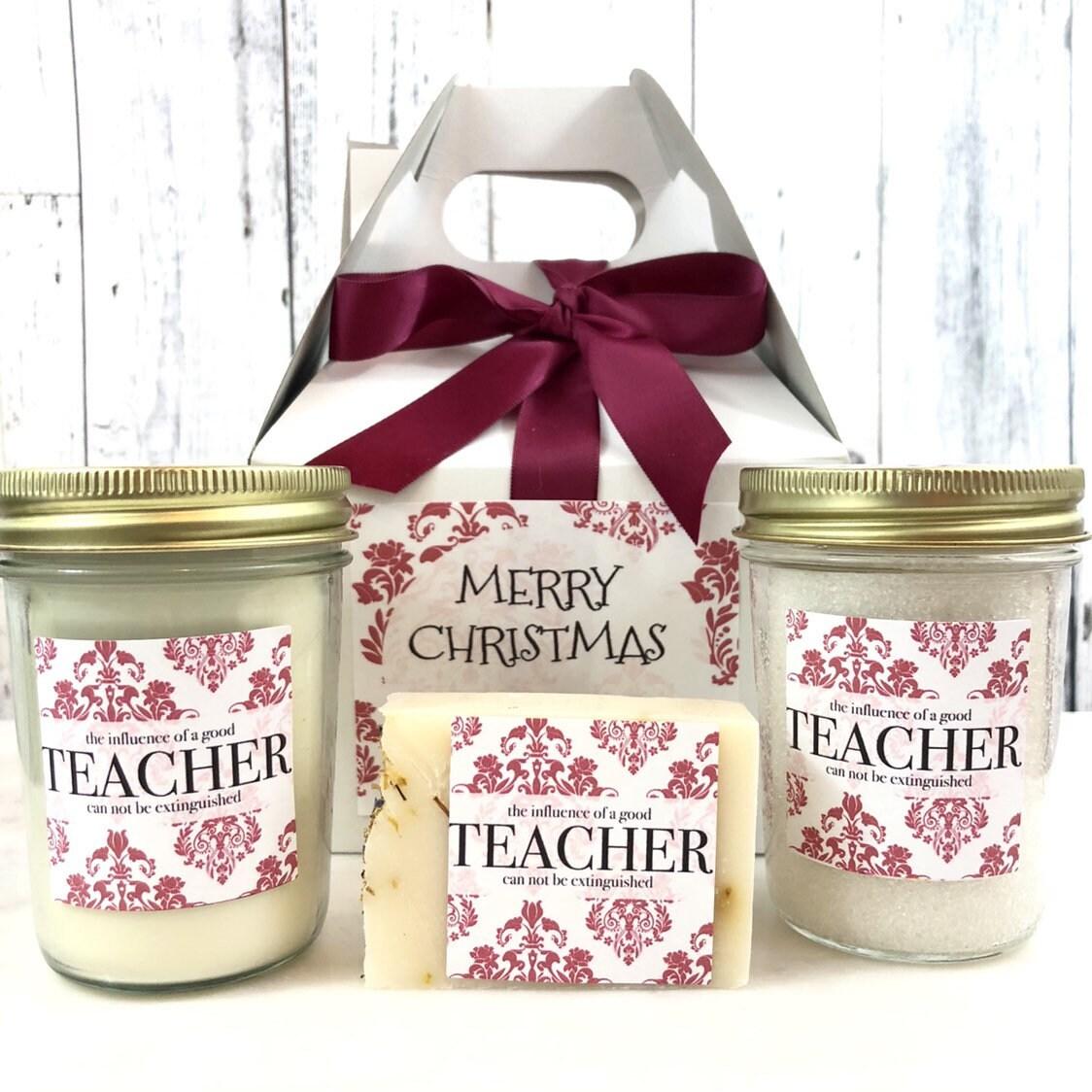 Teacher Gift Set - Teacher Christmas Gifts - Teacher Candle Gift ...