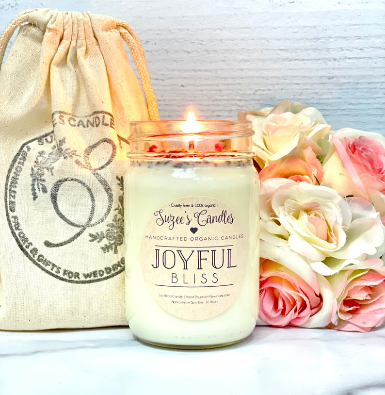 Positive Home Decor Positive Gifts for Woman Meditation Gifts Soy Candle Meditation Candle Rose Scented Candle Positive Candle