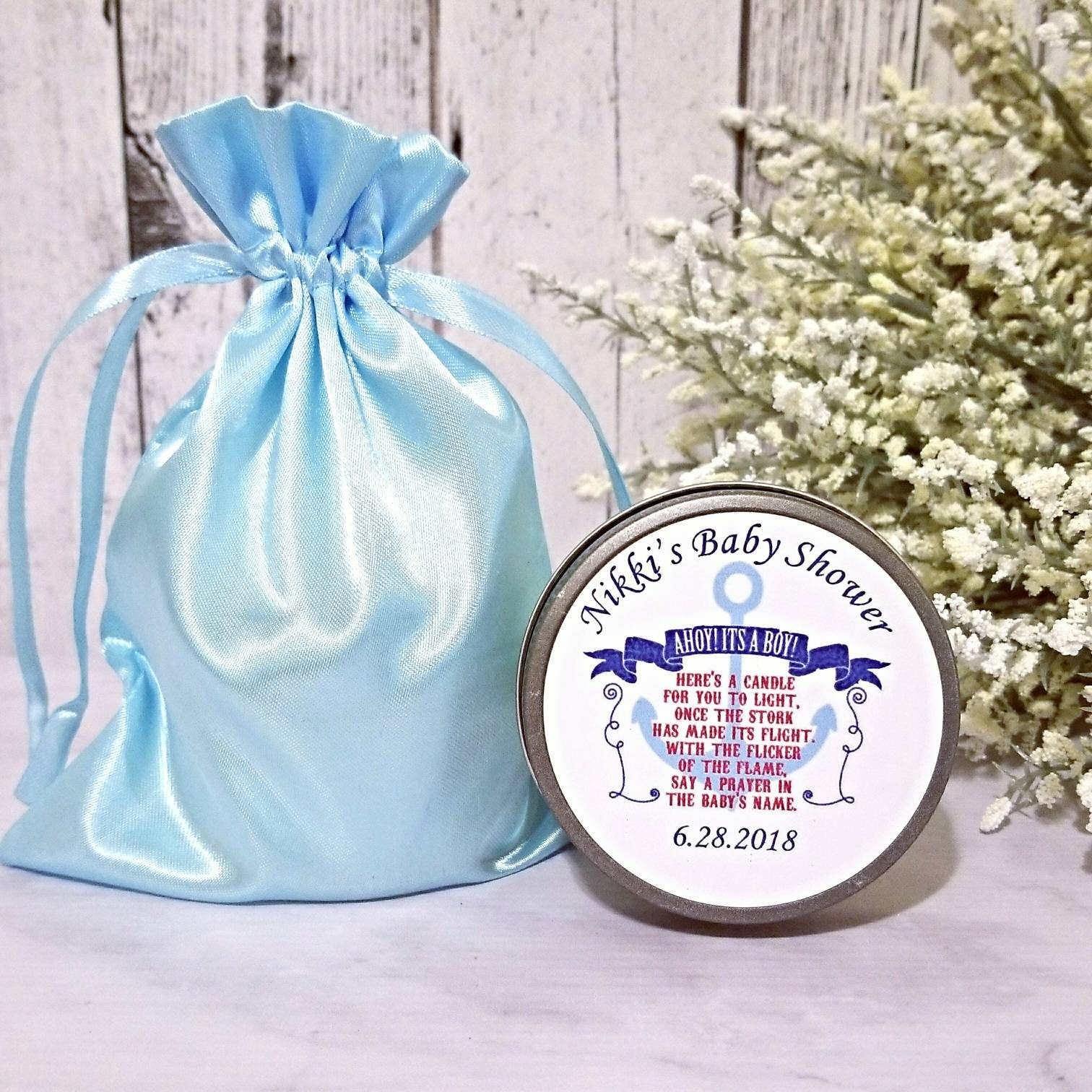 Nautical Baby Shower Favors Baby Shower Candle Favors Nautical