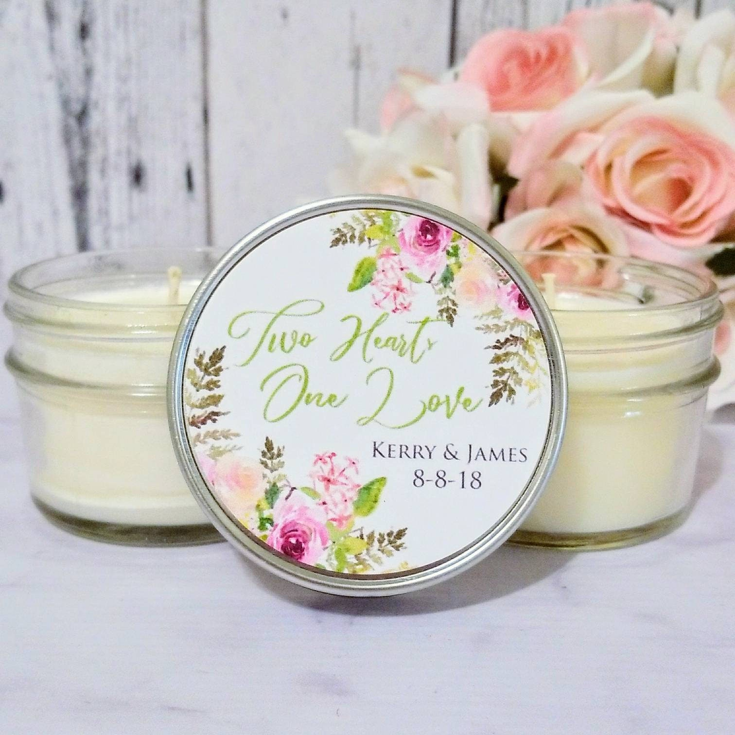 Floral Wedding Favors Wedding Favors Candles Floral Favors