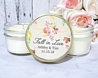 Fall Wedding Candle Favors - Wedding Favors For Guests - Fall Wedding Favors - Fall Wedding - Personalized Candle Favors - Soy Candle Favors