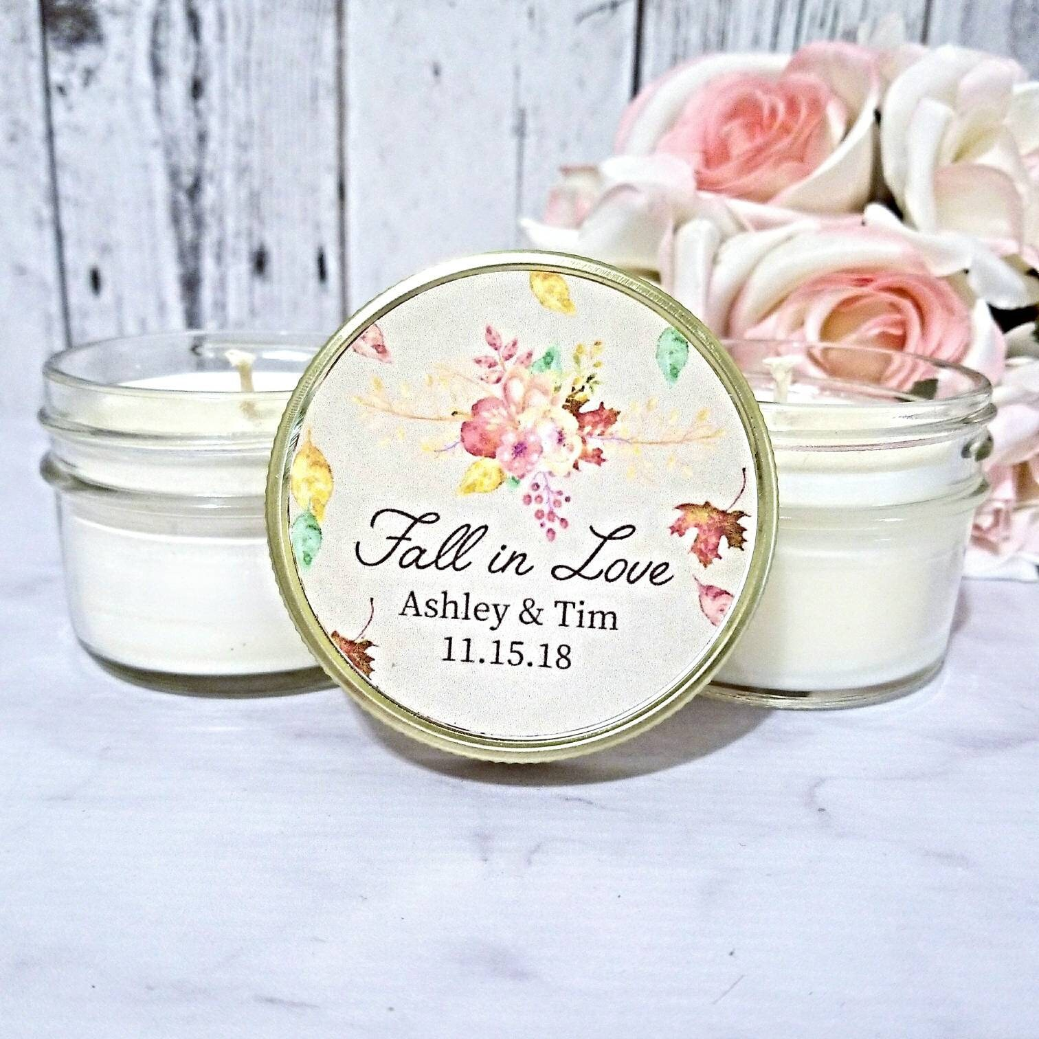 Fall Wedding Candle Favors - Wedding Favors For Guests - Fall ...