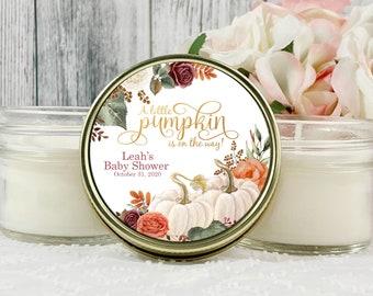 Little Pumpkin Favors , 1 - 4oz Pumpkin Baby Shower For girl , White Pumpkin Baby Shower favors , Fall Baby shower Favors girl