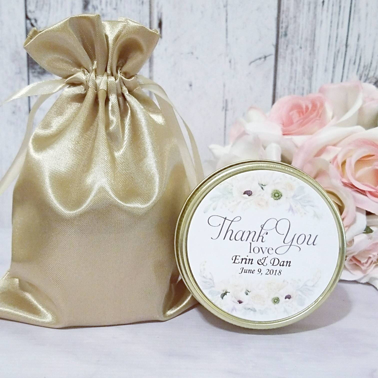 White Wedding favors - Wedding favor candles - Ivory Wedding ...