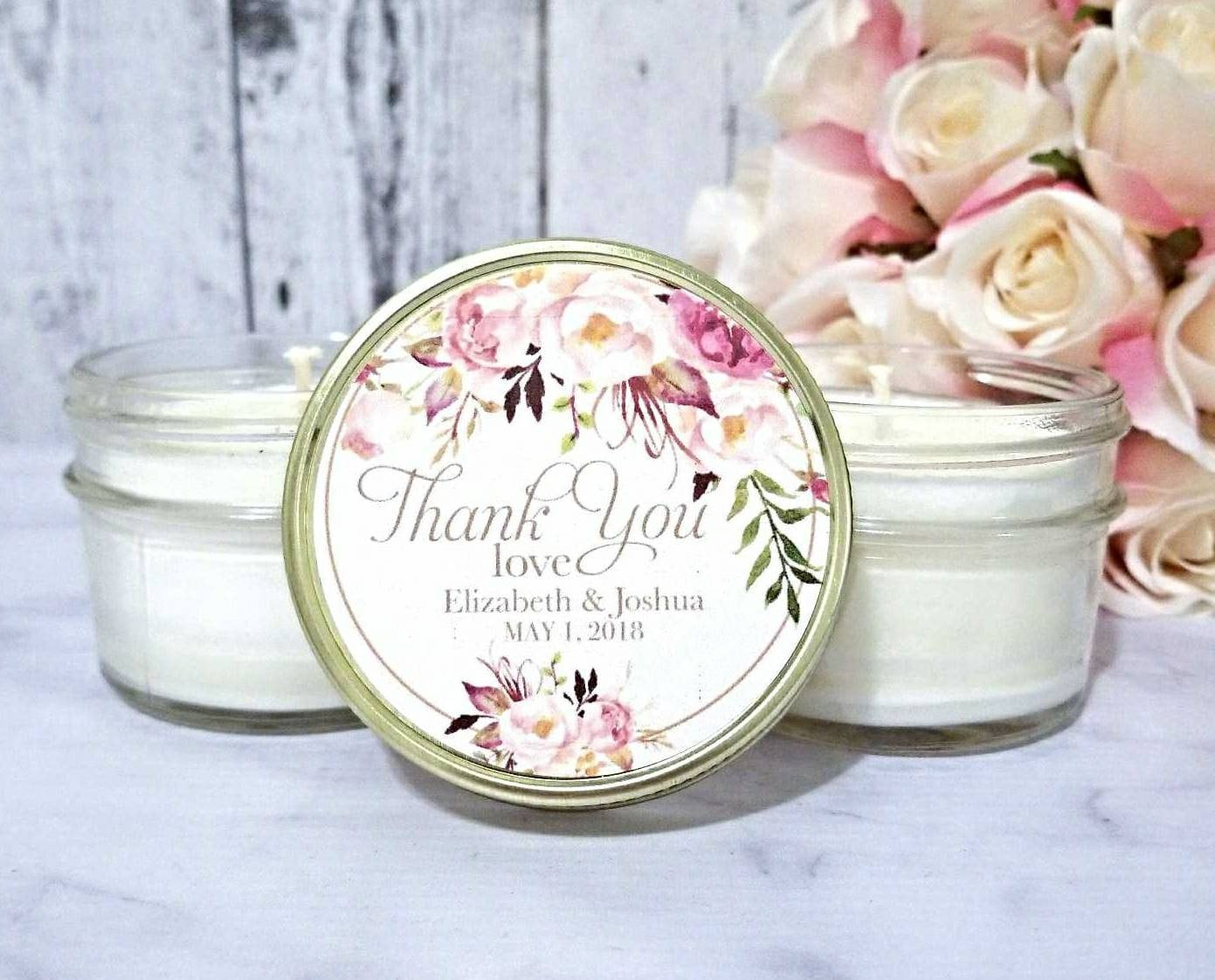 Blush Wedding Favors Candle Wedding Favors Candles Blush