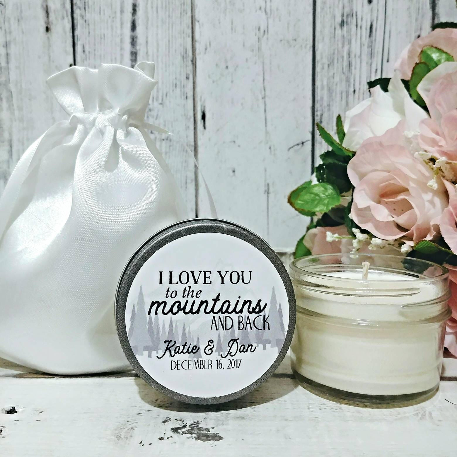 Rustic Wedding Favor - Mountain Wedding Favor - Wedding Candles ...
