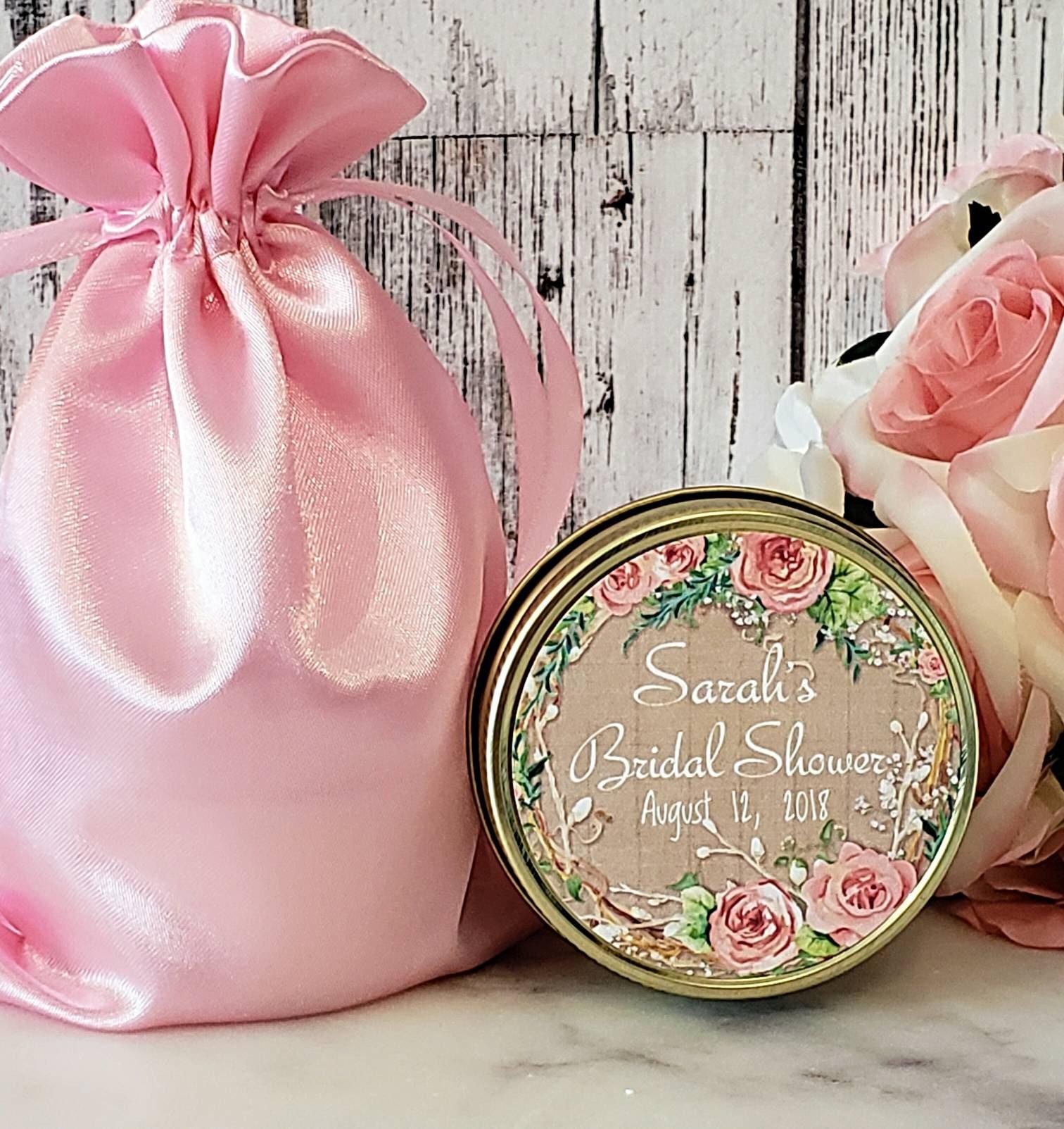 12 Bridal Shower Favors Candles - Bridal Shower Candles - Bridal ...