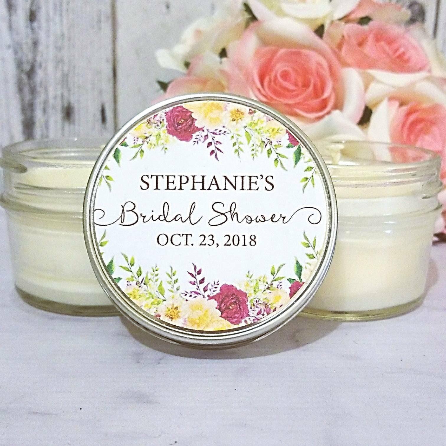 bridal shower favors candles bridal shower favors floral bridal shower garden bridal shower bridal shower party favors set of 12