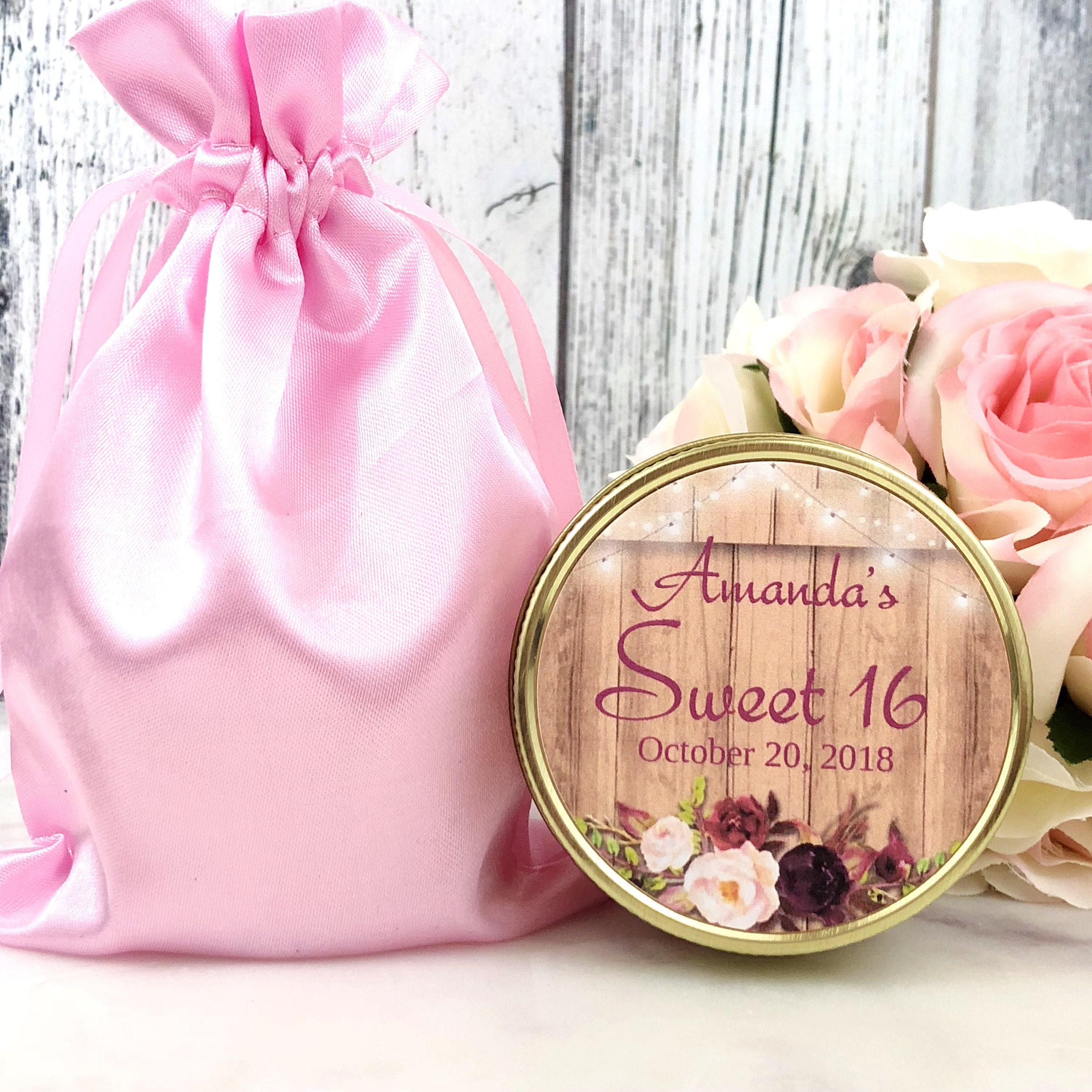 Sweet 16 Party Favors - Rustic Sweet 16 - Fall Sweet 16 - Sweet 16 ...