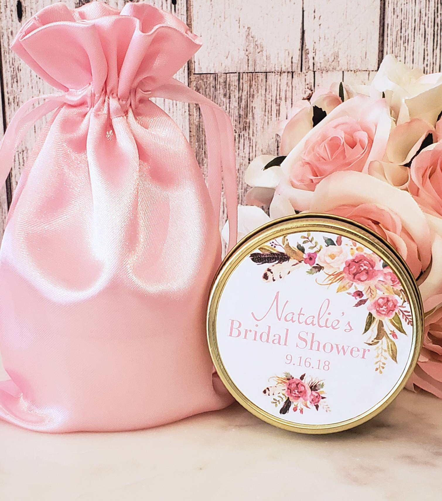 Blush Bridal Shower Favors - Bridal Shower Candle Favors - Blush ...