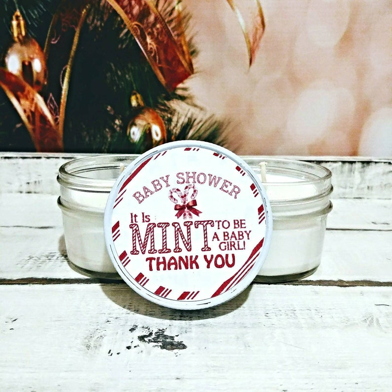 2ce94ad25 Winter Baby Shower Favors Candy Cane Baby Winter Baby