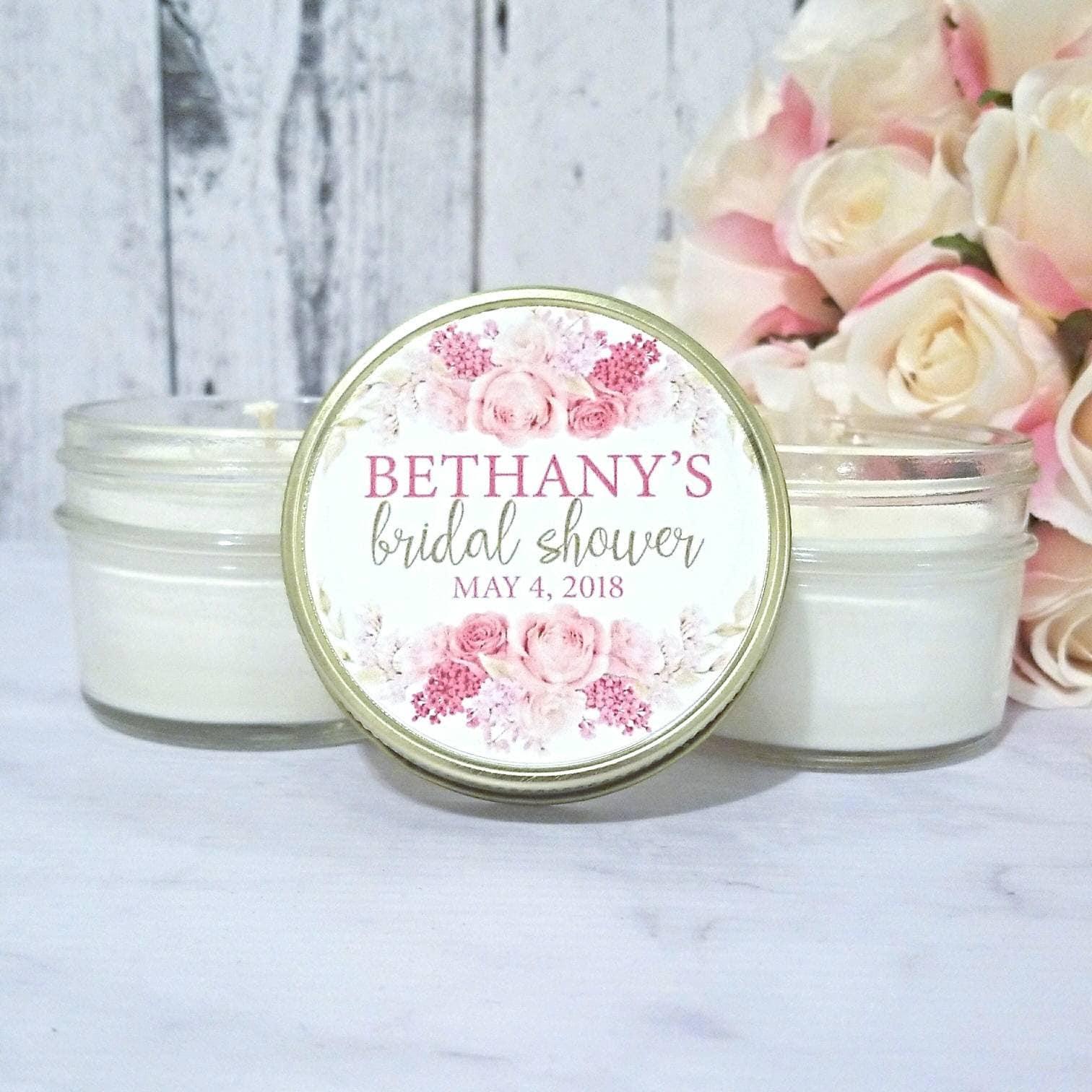 Blush Bridal Shower Candle Favors PINK Bridal Shower