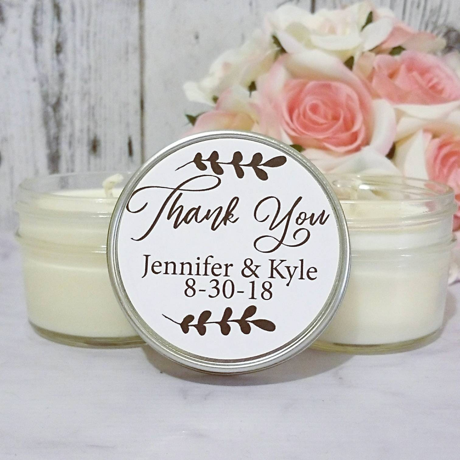 Black and white Wedding Favors - Wedding Candle Favors - Black Tie ...