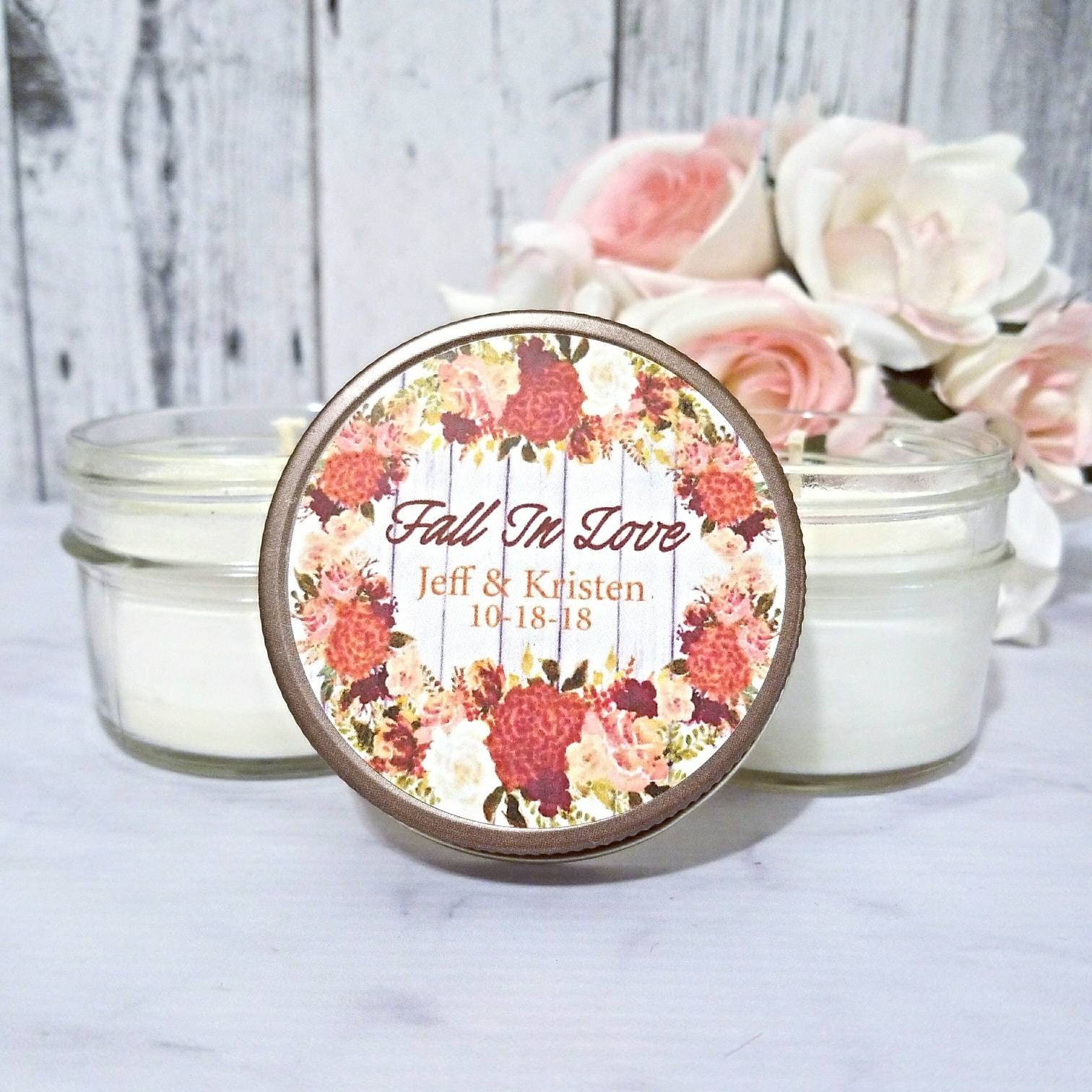 Wedding Candle Favors Autumn Wedding Favor Fall Wedding Favor