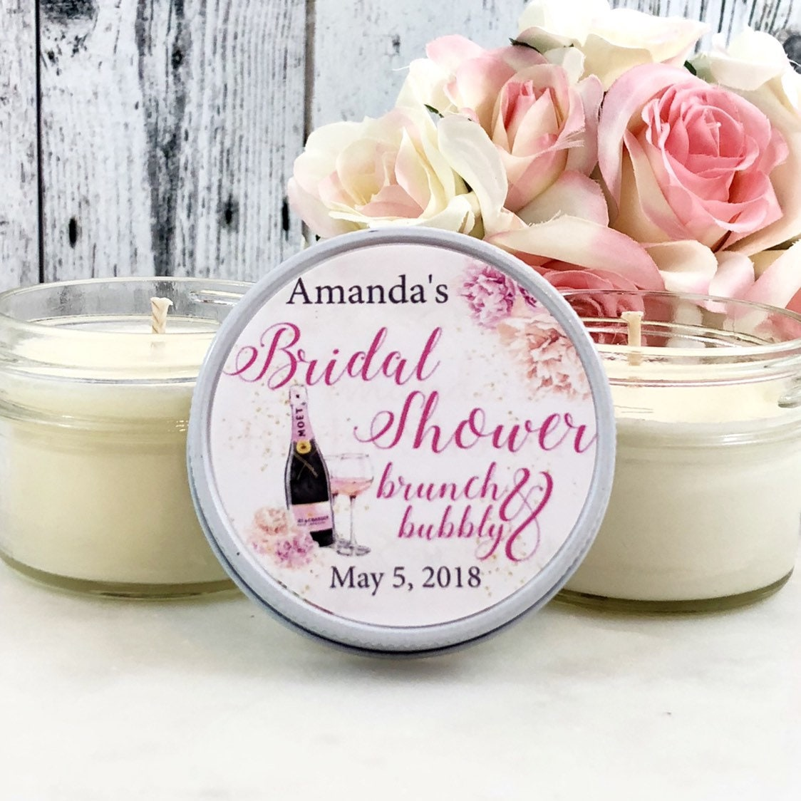 bridal shower favors brunch and bubbly bridal shower bridal shower candle favors bridal party favors bridal brunch favors set of 12