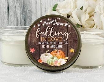 1 - 4oz Autumn Wedding Favors - Rustic Wedding Favors For Guests - Fall Wedding Favors - Pumpkin Wedding Favors - Harvest Wedding