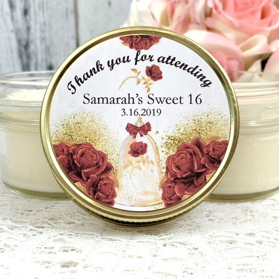 Royal Sweet 16 Party Favors Beauty And The Beast Sweet 16 Etsy
