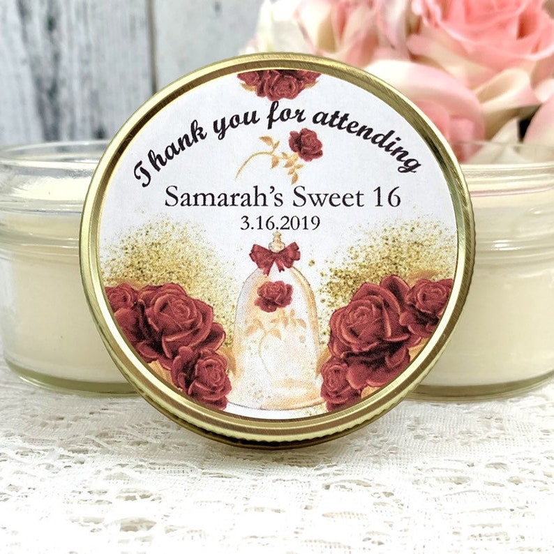 68e3c687592 Royal Sweet 16 Party Favors Beauty and the beast sweet 16