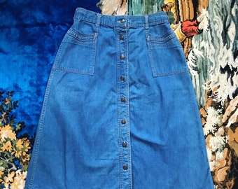 70s Bay Britches denim skirt
