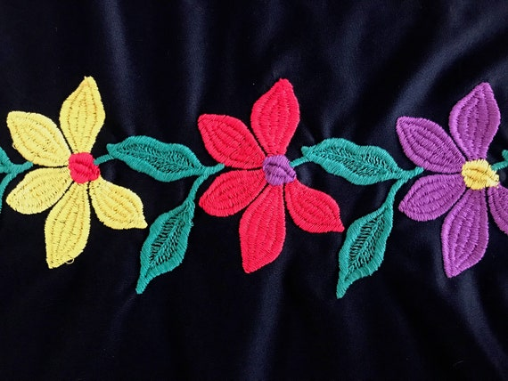 70s floral embroidered maxi dress - image 5