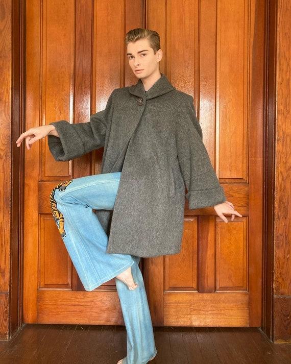 50s Wool swing coat
