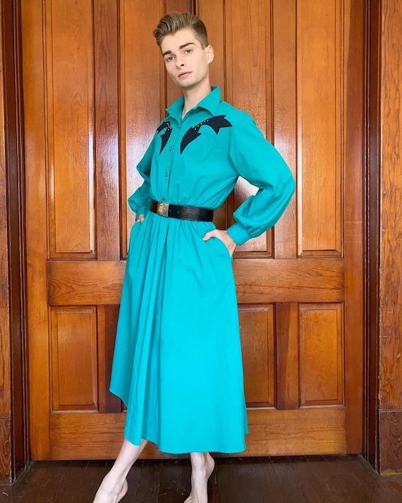 80s Western studded dress