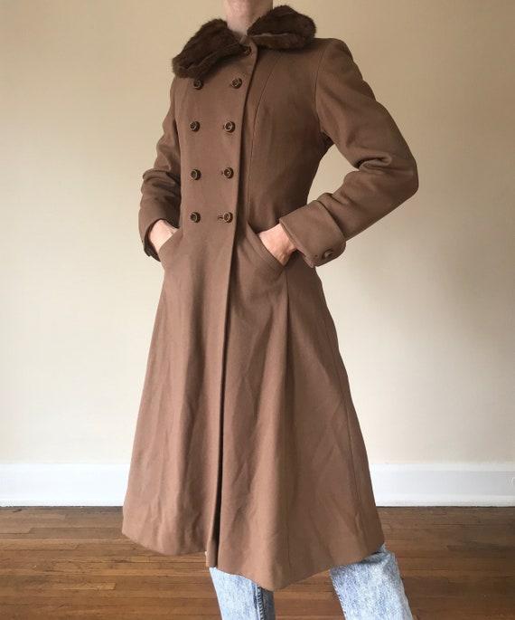 40s Princess coat with fur collar