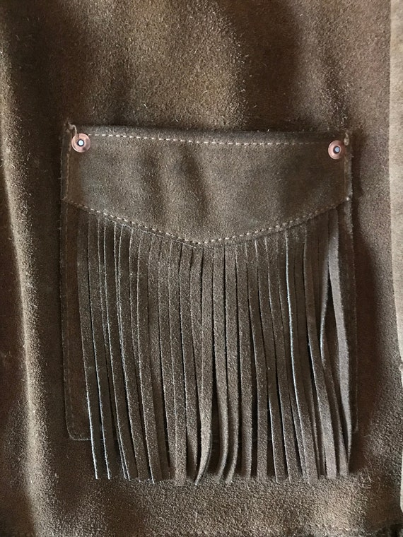 70s Schott suede fringe ranch wear jacket - image 6