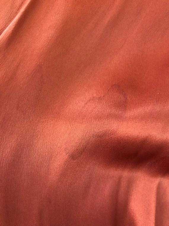 30s / 40s Orange liquid satin dress with matching… - image 9