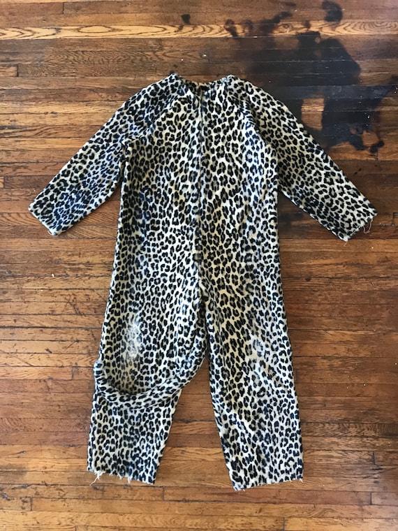 1970s Leopard jumpsuit / catsuit costume