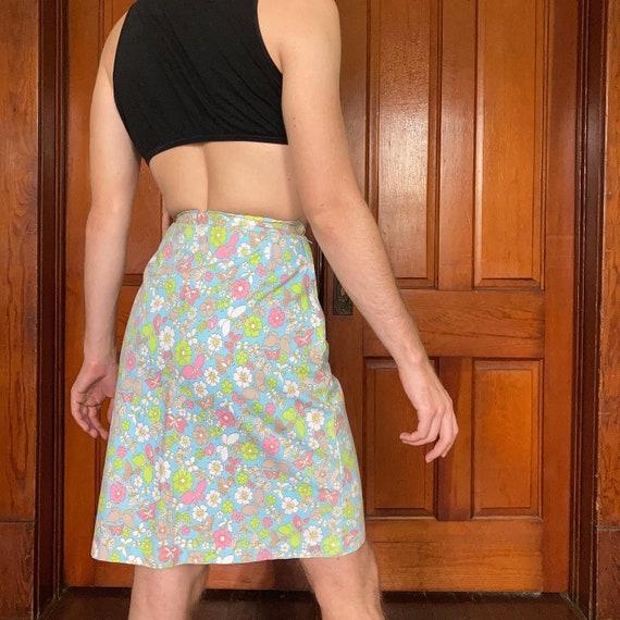 70s Novelty print maxi skirt - image 2