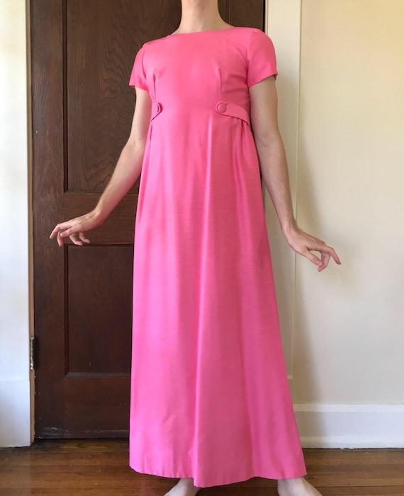 60s Emma Domb bright pink formal dress