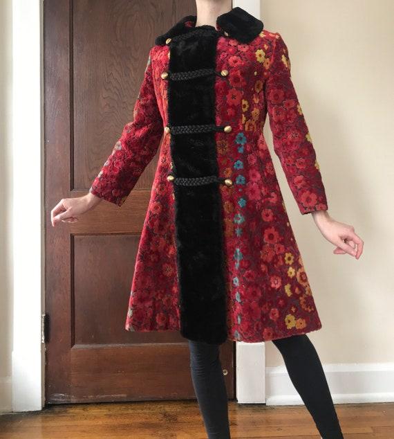 Late 60s Russian princess tapestry coat