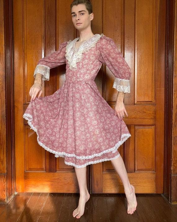 70s Gunne Sax midi dress