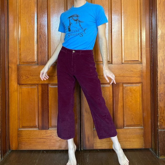 70s cropped corduroy pants