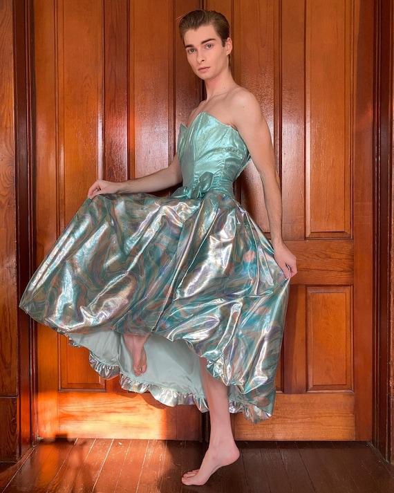 80s metallic party dress
