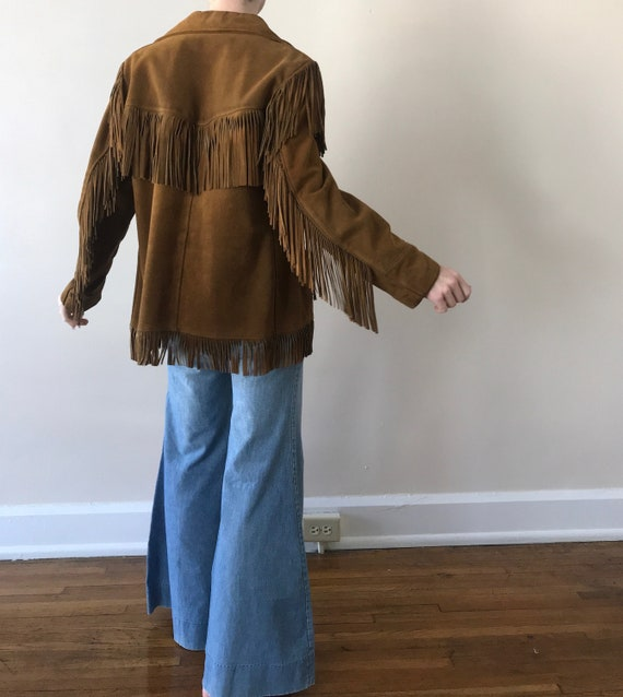 70s Schott suede fringe ranch wear jacket - image 2