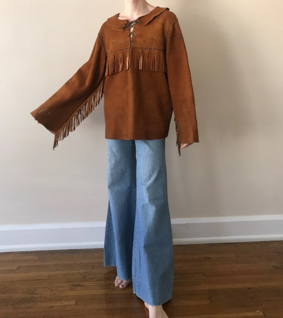 Late 60s / Early 70s suede fringe tunic