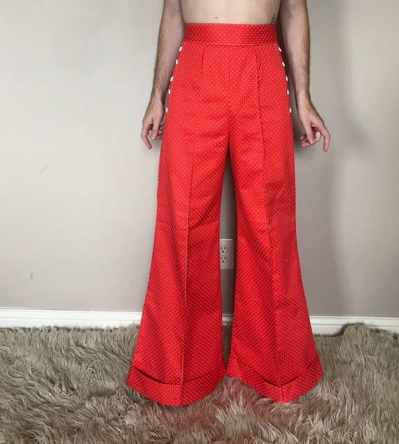 70s Polka dot bell bottoms